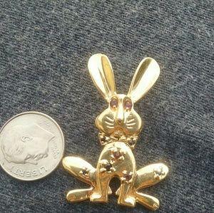 Jewelry - Bunny Pendant in YG
